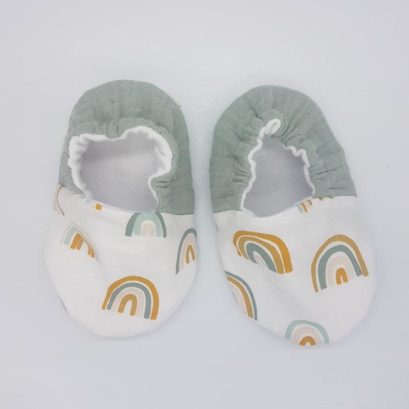 Chaussons   3-6 M   Arc-en-ciel   Créations Baby   Boutique Meli Melo