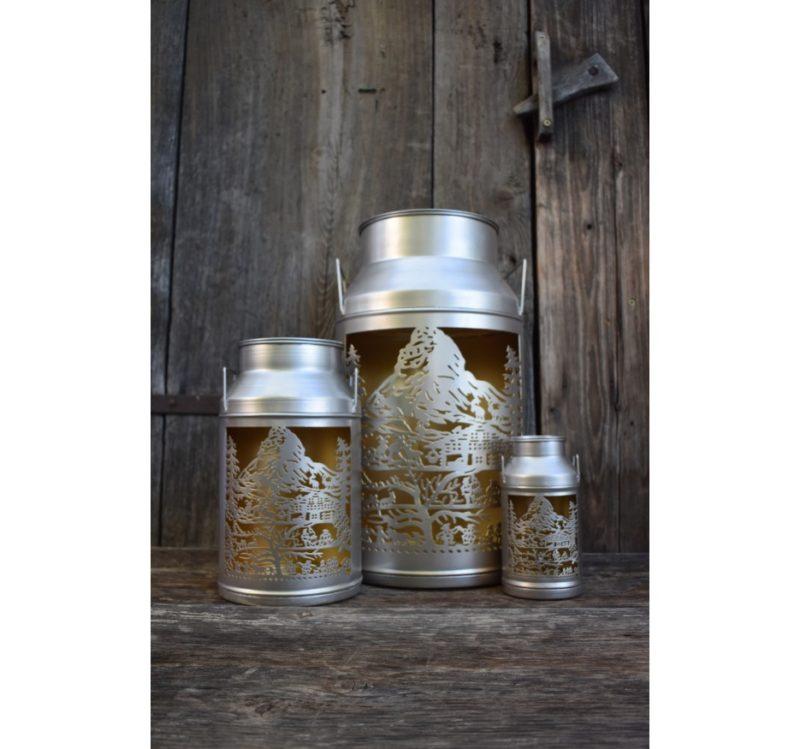 3 lanternes boille a lait zermatt de jour