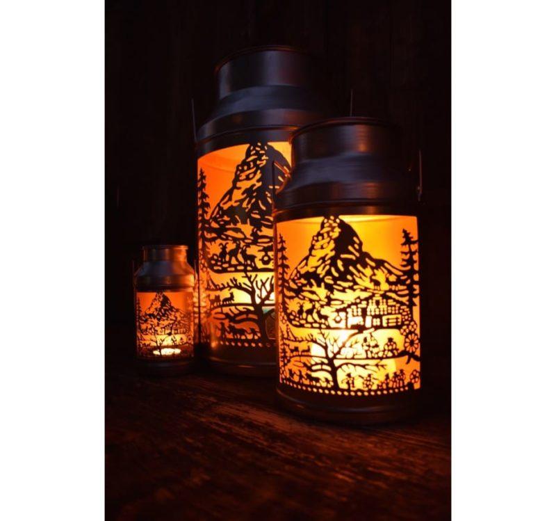 3 lanternes boille a lait zermatt de nuit