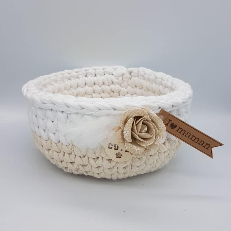 Panier | Blanc-beige | Créa'Cél |Boutique Meli Melo