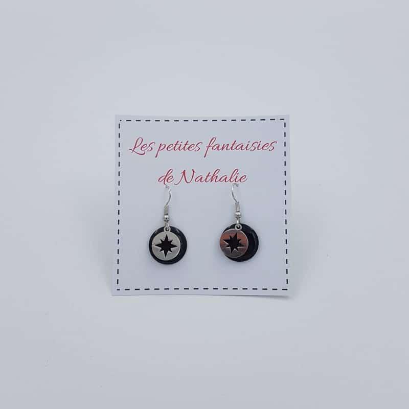 Boucle d'oreilles | Etoile du Nord | Les petites fantaisies de Nathalie | Boutique Meli Melo