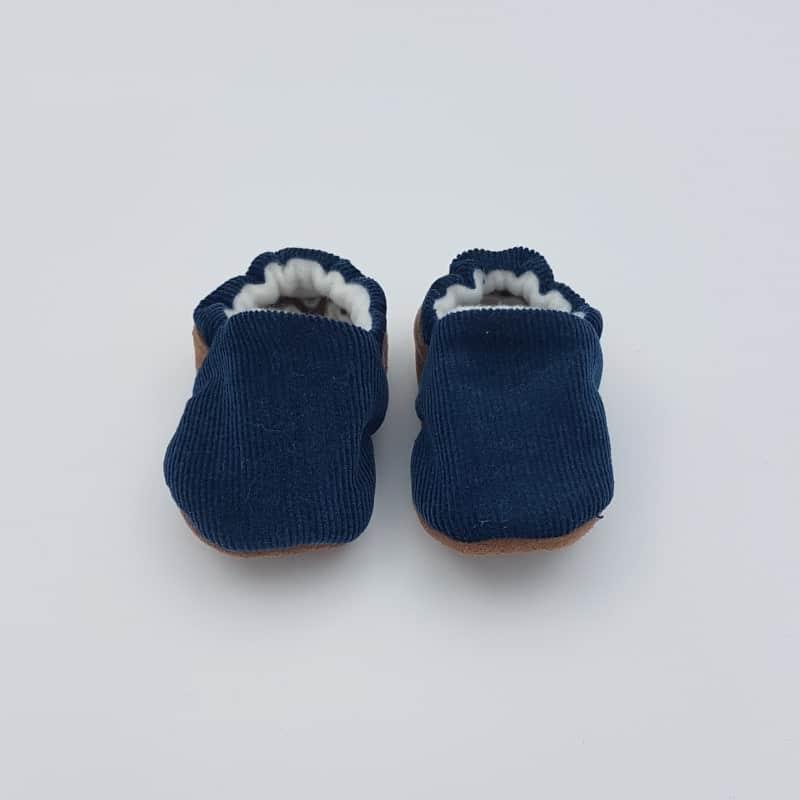 Chaussons   0-3 M   Blau marine   Créations Baby   Boutique Meli Melo