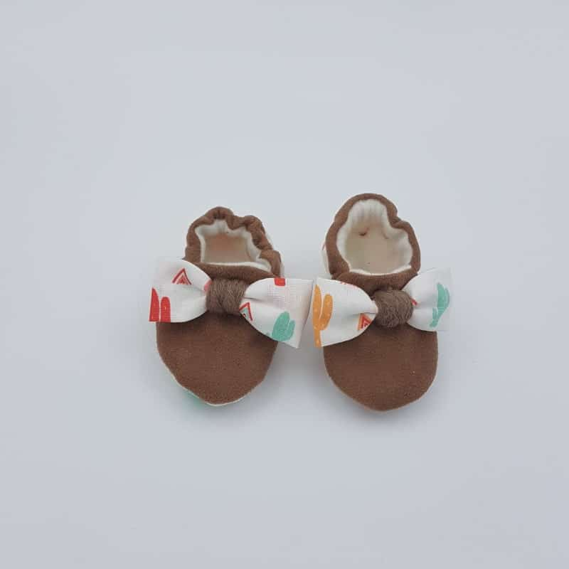 Chaussons | 0-3 M | Noeud | Créations Baby | Boutique Meli M