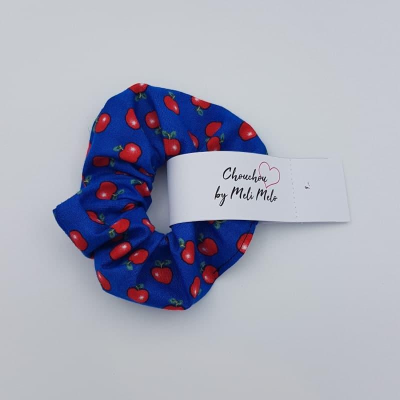 Chouchou cheveux | Pomme bleu royal | Boutique Meli Melo