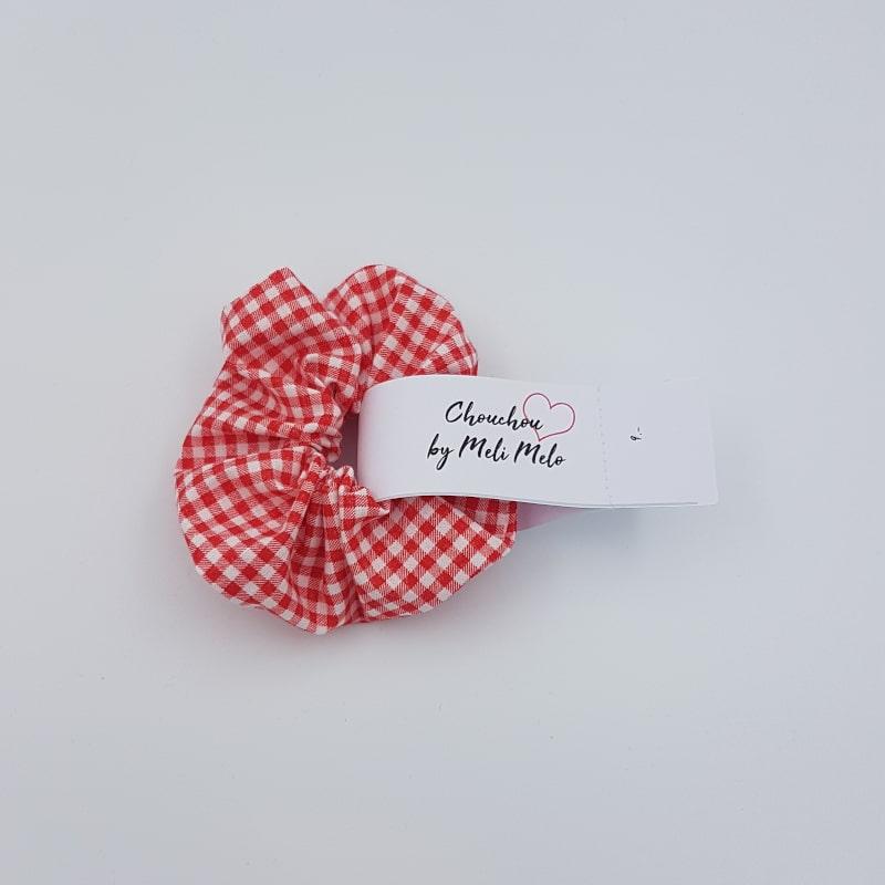 Chouchou cheveux | Vichy rouge | Boutique Meli Melo