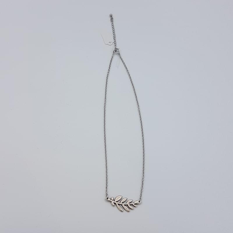 Collier | Branche d'olivier | Les petites fantaisies de Nathalie | Boutique Meli Melo