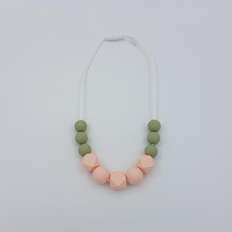 Collier de portage | Court | Olive-rose | Boutique Meli Melo