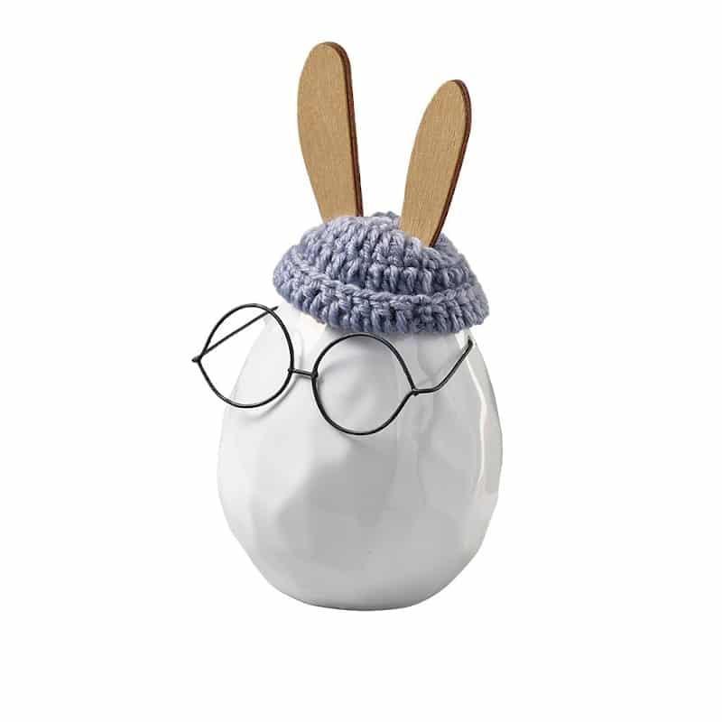 Oeuf-lapin à lunette |Grand | Boutique Meli Melo
