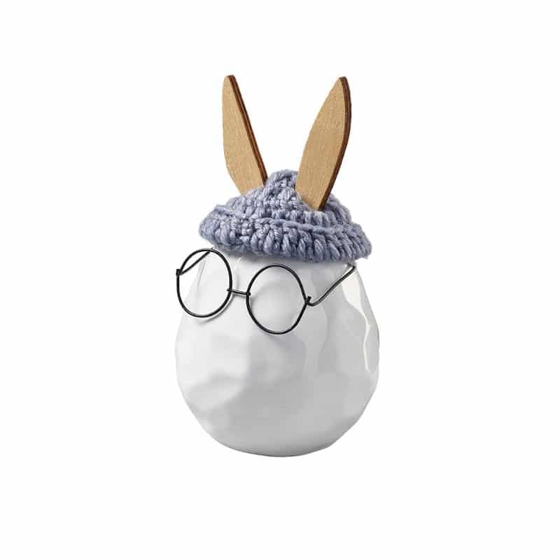 Oeuf-lapin à lunette |Petit | Boutique Meli Melo