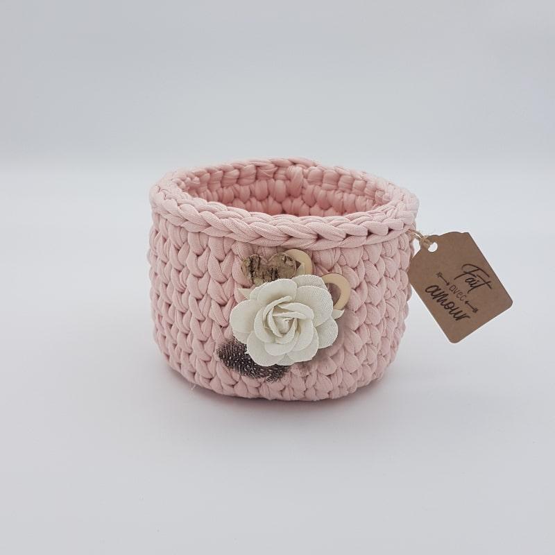 Panier   Rose clair   Créa'Cél   Boutique Meli Melo