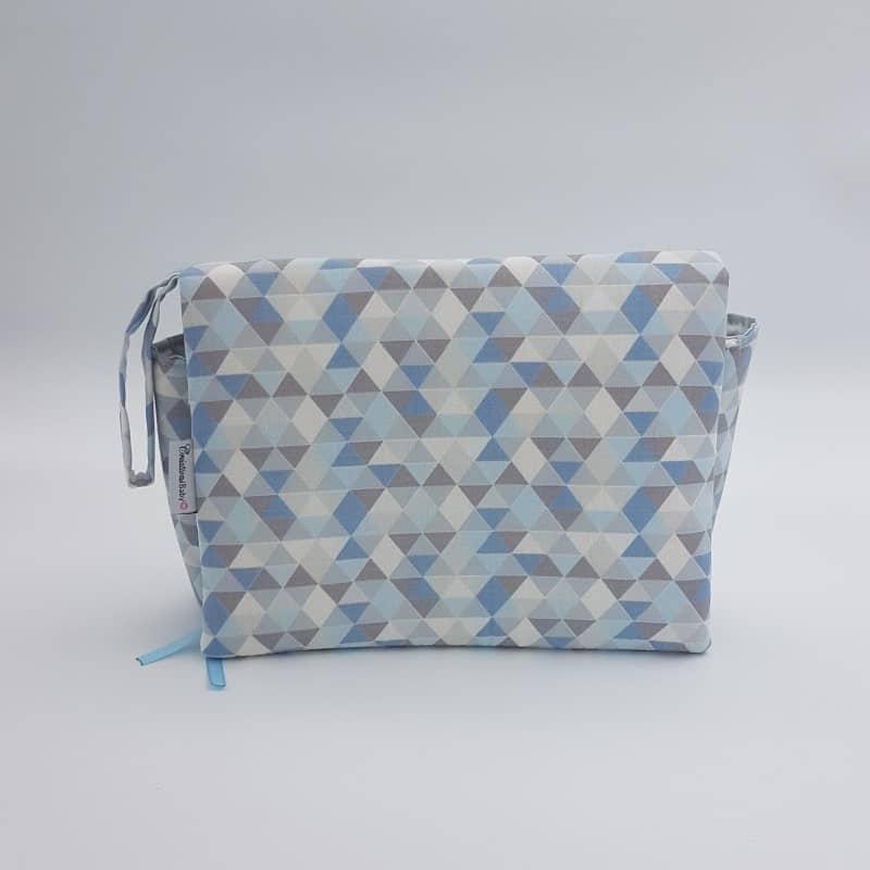 Trousse 3 en 1   bleu-gris   Créations Baby   Boutique Meli Melo