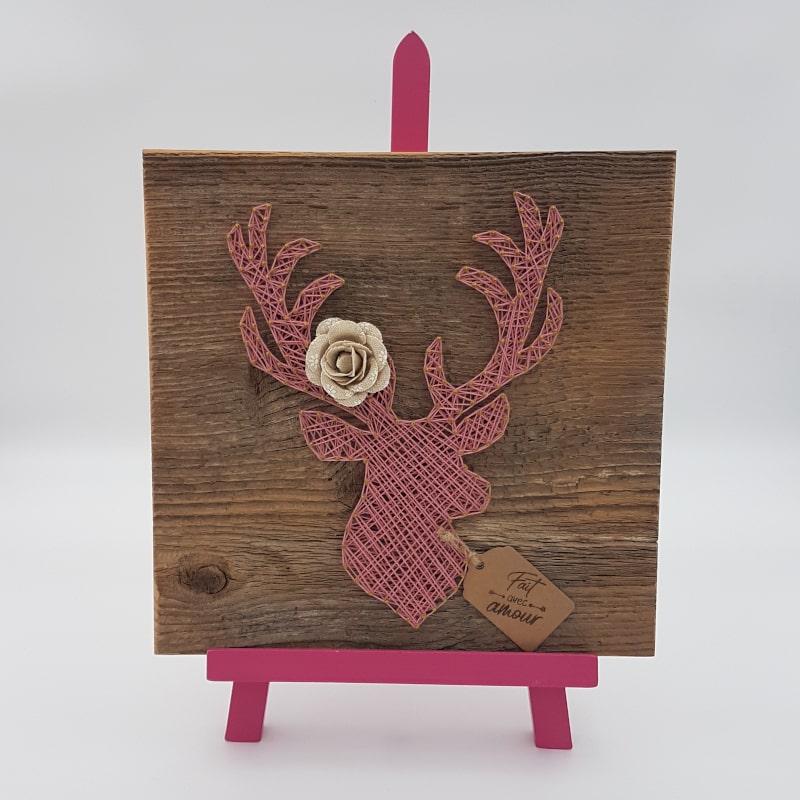 Tableau string art | Cerf | Créa'Cél | Boutique Meli Melo