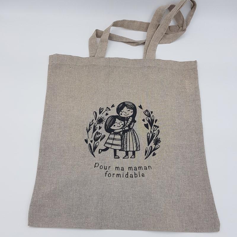 Tote Bag beige | Pour ma maman formidable | Orion | Boutique Meli Melo