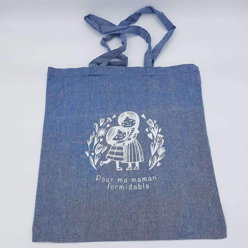 Tote Bag bleu | Pour ma maman formidable | Orion | Boutique Meli Melo