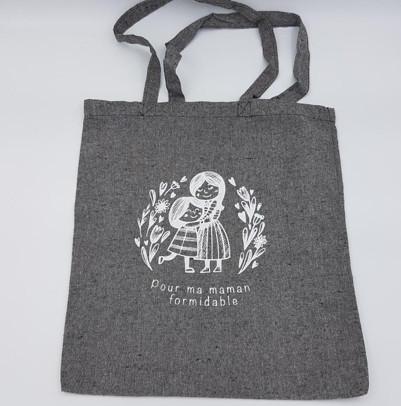 Tote Bag noir | Pour ma maman formidable | Orion | Boutique Meli Melo