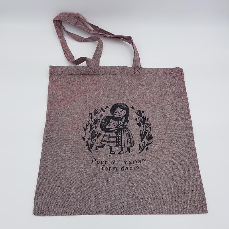 Tote Bag rouge | Pour ma maman formidable | Orion | Boutique Meli Melo